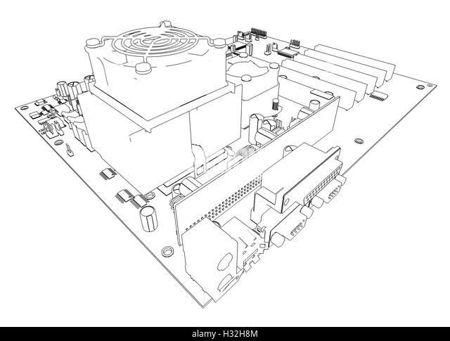 motherboard blueprint stock photos  u0026 motherboard blueprint