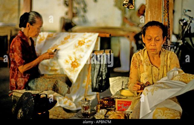 Batik Java Indonesia Indonesian Stock Photos & Batik Java Indonesia ...