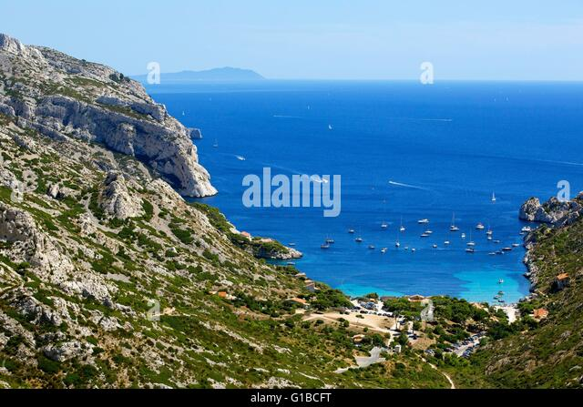 Calanques national park marseille stock photos calanques for Ca bouche du rhone