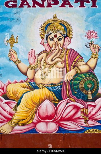 Ganesh mural stock photos ganesh mural stock images alamy for Mural ganapathi