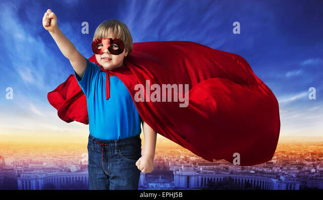 Superman flying stock photos superman flying stock images alamy comic style picture of a little superhero stock image publicscrutiny Images