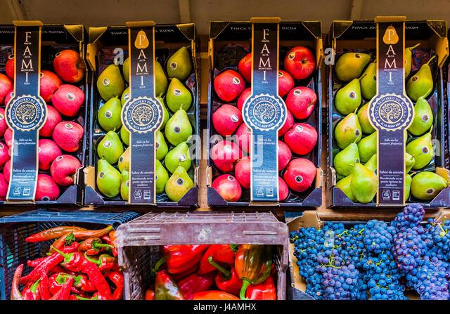 Selected fruit and vegetables from La Rioja. Logroño, La Rioja, Spain, Europe - Stock Image