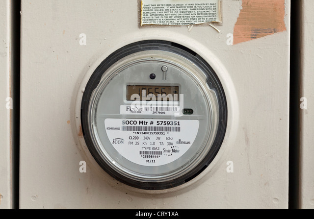Digital Electric Meter : Smart meter stock photos images alamy