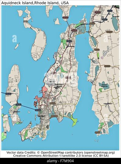 Rhode Island Map Stock Photos Rhode Island Map Stock Images Alamy - Road island usa map