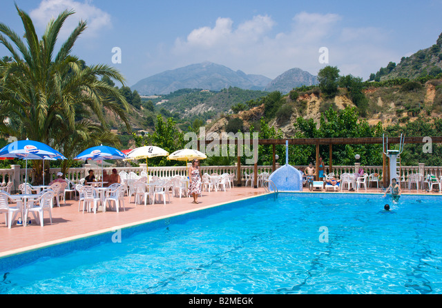Costa blanca spain fuentes d 39 algar or fonts d 39 algar the village stock photo picture and royalty for Swimming pool repairs costa blanca