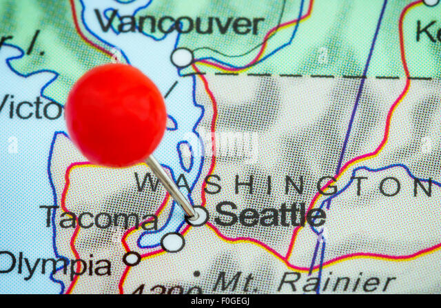 Seattle Map Stock Photos Seattle Map Stock Images Alamy