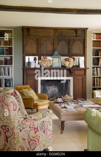 Edwardian Style Drawing Room In Home Of Fabric Designer Richard Smith East Sussex