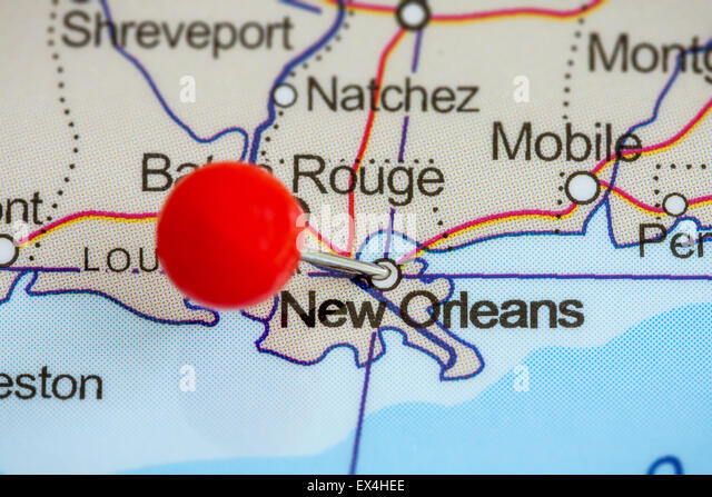 Map New Orleans Stock Photos Map New Orleans Stock Images Alamy - New orleans in map of usa