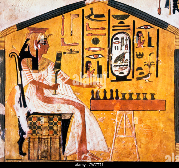 Nefertari Playing Senet Detail Of A Wall Painting From