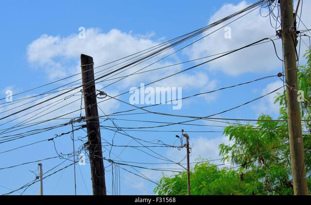 Electric Wire Outdoor Stock Photos & Electric Wire Outdoor Stock ...