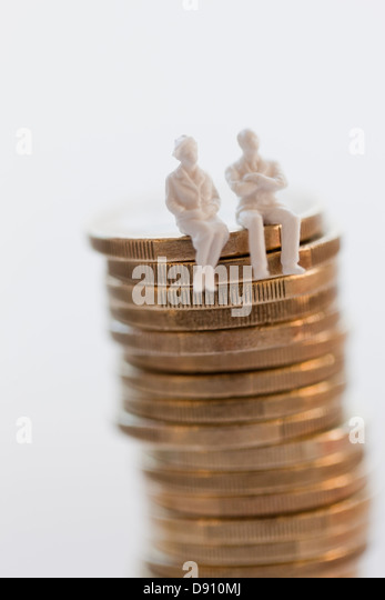 Stack Of Coins Cake Decoration