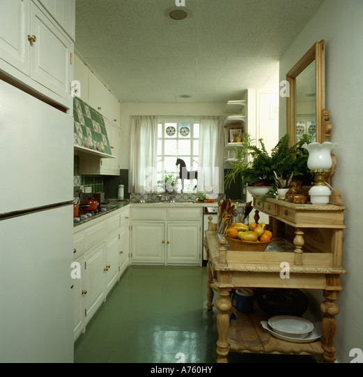 Traditional Furniture Kitchens Green Stock Photos & Traditional ...