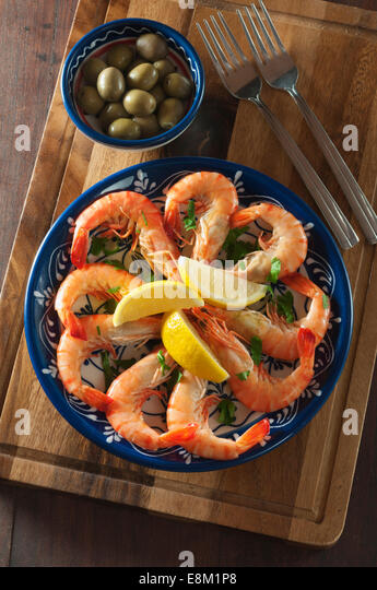 Prawns Gambas Stock Photos & Prawns Gambas Stock Images - Alamy