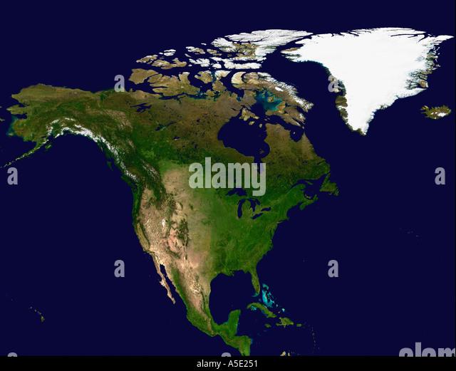 Satellite Image North America Stock Photos