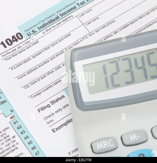 Taxation america stock photos taxation america stock for 1040 tax table calculator