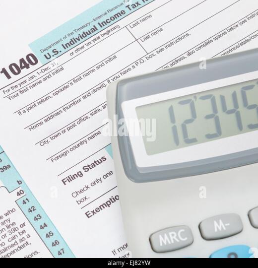 Taxation america stock photos taxation america stock for 1040 tax table calculator