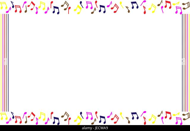 abstract background frame with music notes stock image - Music Note Picture Frame