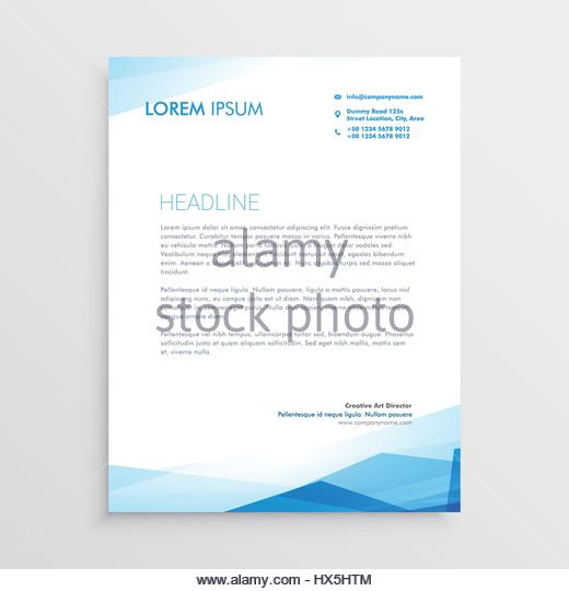 Abstract Blue Letterhead Design Template Stock Photos & Abstract ...