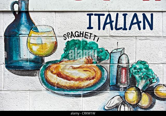 Italian Wall Art restaurant wall art stock photos & restaurant wall art stock
