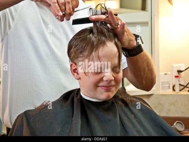 Barber Boy Haircut Stock Photos & Barber Boy Haircut Stock Images