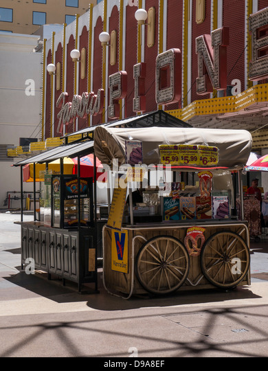 Fast Food Stalls In Fremont Street In Downtown Las Vegas   Stock Image