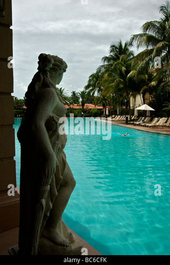 Miami Coral Gables Biltmore Hotel restored renovated to former glory  including massive swimming pool - Stock