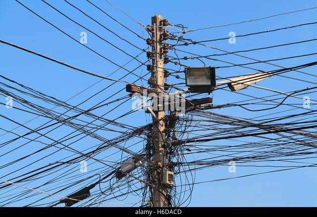 Electrical Wire Outdoor Stock Photos & Electrical Wire Outdoor ...