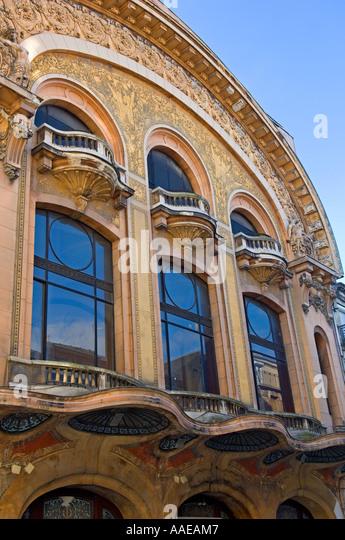 Art deco facade stock photos art deco facade stock for Deco 7 reims