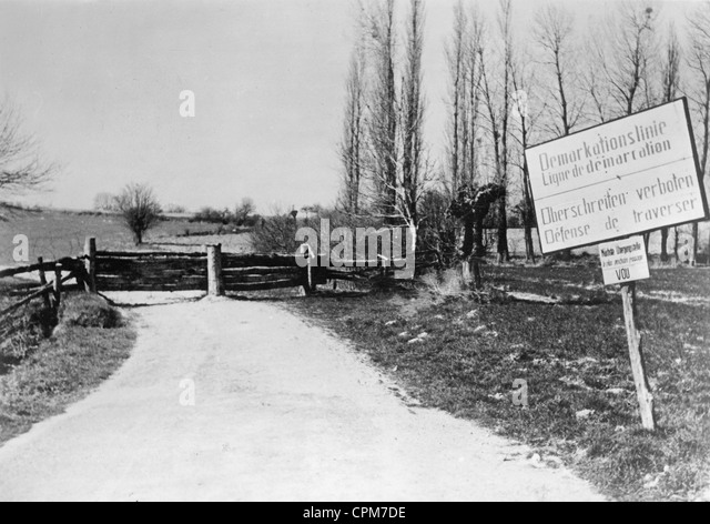 Demarcation Line To Vichy France 1941