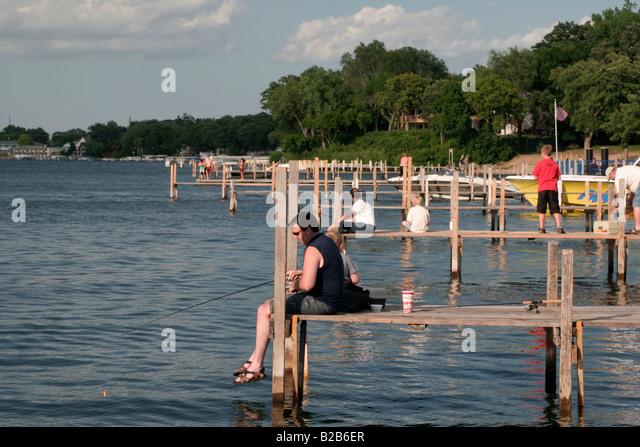 Arnolds park stock photos arnolds park stock images alamy for Lake okoboji fishing