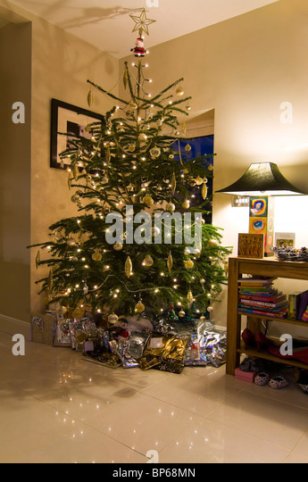 Piles Gifts Under Christmas Tree Stock Photos & Piles Gifts Under ...