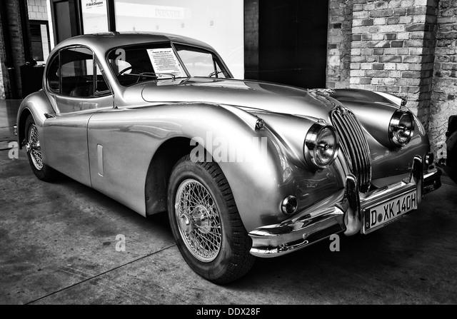 xk140 stock photos xk140 stock images alamy sport car jaguar xk140 coupe black and white stock image