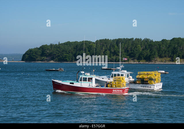 Lobster boat bar harbor stock photos lobster boat bar for Lobster fishing in maine