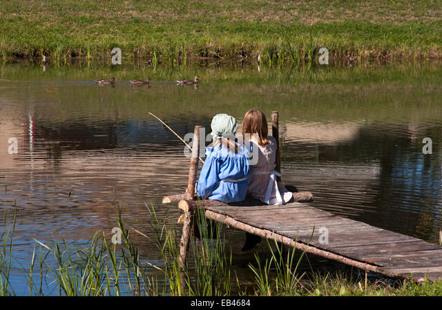 The country girls stock photos the country girls stock for Local fishing ponds