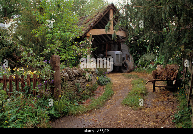 old country garden