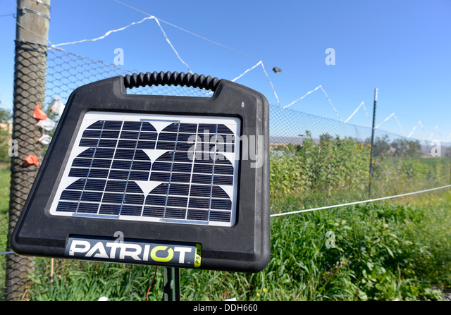 Electric Fence Control Panel : Electric fence stock photos images