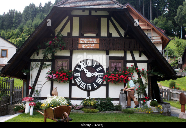 the first built largest cuckoo clock in the world schonach black forest stock image - Black Forest Cuckoo Clocks