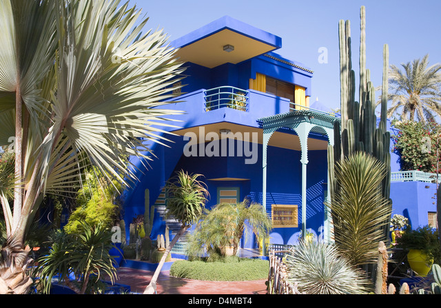 Jardin majorelle stock photos jardin majorelle stock for Jardin yves saint laurent
