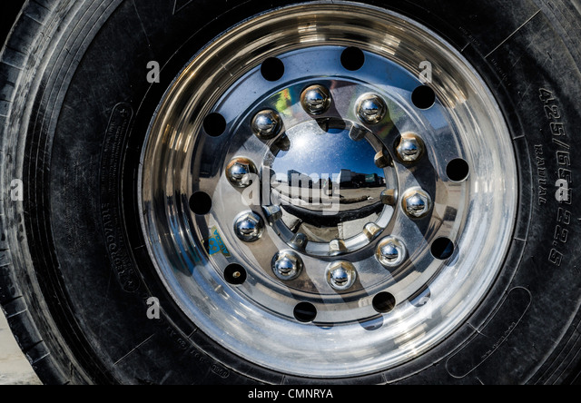 reflection in a hub cap stock image