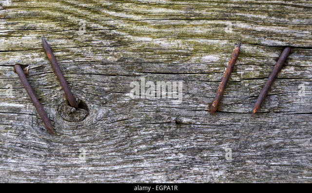 Rusty Nail Wooden Plank Stock Photos & Rusty Nail Wooden ...