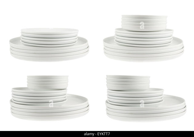 clean white plates stock photos clean white plates stock. Black Bedroom Furniture Sets. Home Design Ideas
