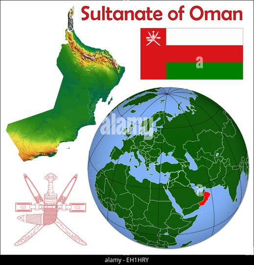 Oman Map Stock Photos Oman Map Stock Images Alamy