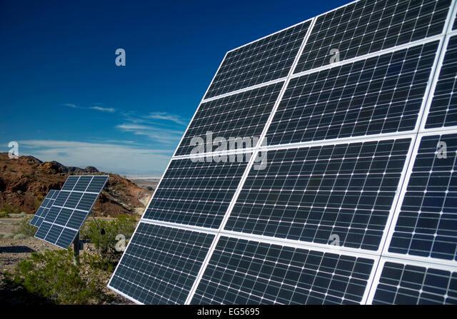 Solar Power Desert Stock Photos Amp Solar Power Desert Stock