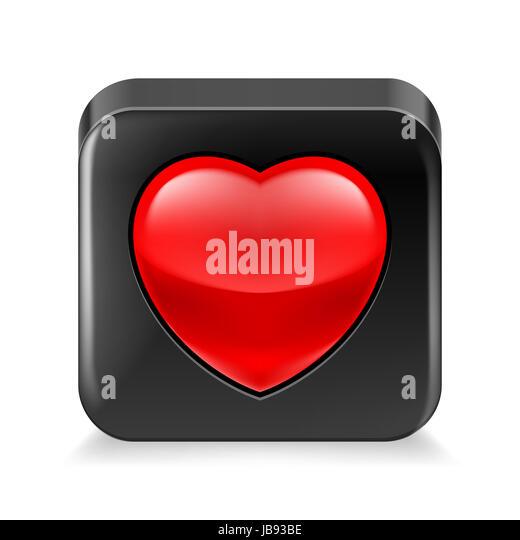 Cardiology Icon White App Button Stock Photos Cardiology Icon