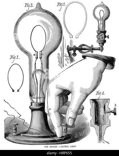 Thomas Edison Incandescent Lamp 1880