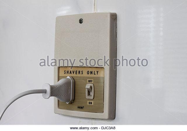 Wall Light With Shaver Socket: Bathroom Electric Stock Photos & Bathroom Electric Stock