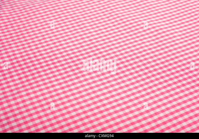 Superior Pink Gingham Or Checked Tablecloth Background   Stock Image