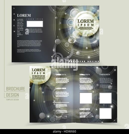 egypt brochure templates - corporate dark brochure design golden stock photos
