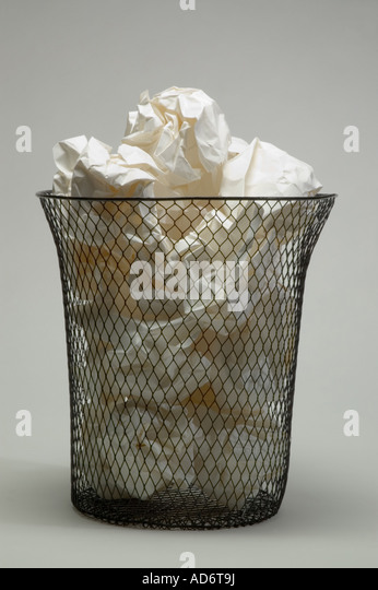 Wire Waste Paper Basket waste paper baskets stock photos & waste paper baskets stock