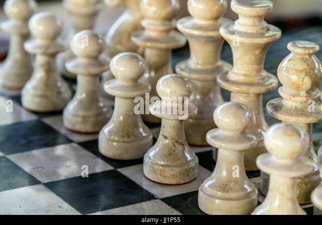 Carved chess stock photos carved chess stock images alamy - Granite chess pieces ...